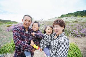 W様のお誕生記念家族写真2
