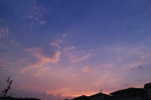 8月15日の夕焼け