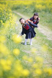 入学記念写真「菜の花ロケ」S様のサンプルフォト2