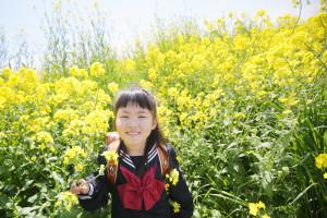 入学記念写真「菜の花ロケ」S様のサンプルフォト4