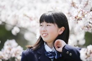 入学写真桜ロケサンプルフォト